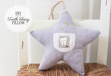 Twinkle Star Tooth Fairy Pillow for Kids