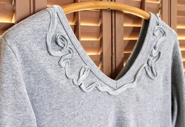 Summer DIY T-Shirt Series: Embellished Neckline