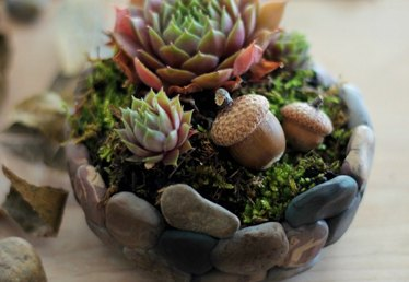 How to Make a Faux Stone Planter