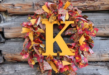 How to Make a Fabric Thanksgiving Wreath