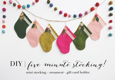 DIY Five-Minute Stocking