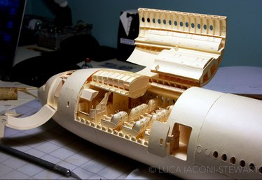 This College Kid Spent Six Years Creating a Boeing 777 to Scale with Moving Parts (and You'll Never Guess What Common Office Supply He Used)