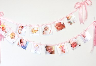 Sweet Décor for Your Child's Celebration: A DIY Baby Photo Garland
