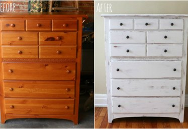 Before & After: An Outdated Garage Sale Dresser Gets a Shabby Chic Makeover
