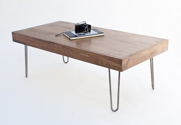 DIY Coffee Table with Hairpin Legs
