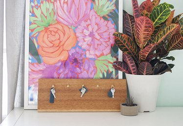 Keep Your Entryway Looking Classy with a DIY No-Nails Key Rack