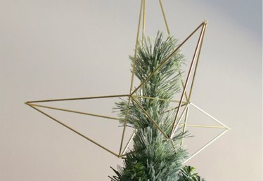 DIY Himmeli-Style Christmas Star Tree Topper