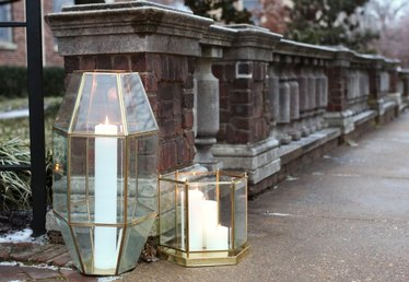 Turn Old Light Fixtures Into Modern Geometric Lanterns