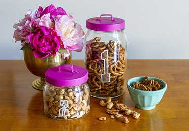 Organize Your Home with DIY Etched and Painted Jars