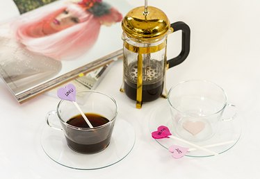 Enjoy Coffee for Two With DIY Mug Appliqués and Conversation Heart Stirrers