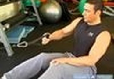 Seated Row & Twist Exercise to Increase Back Strength