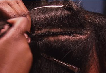 How to Braid Hair With a Weave