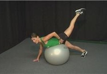 Stability Ball Exercises: Prone Glute Lift