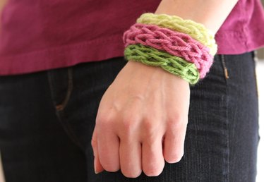 Finger Knit Bracelets