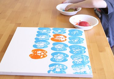 Spring Art: Make Produce Prints