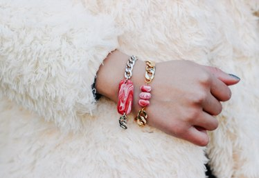 Handmade Holiday: DIY Marbled Candy Cane Bracelets