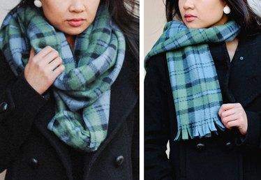 DIY Tutorial: How to Make 2 Scarves from 1 Yard of Fleece
