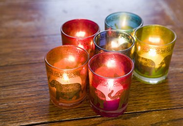 What Are Colored Candles Made Of?
