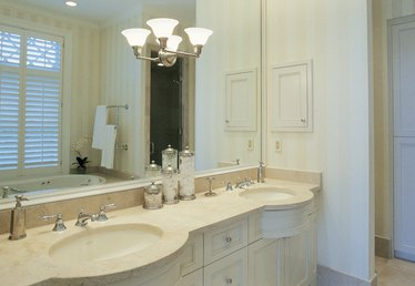 How to Replace Bathroom Vanity Lights Going From One Light to Two Lights
