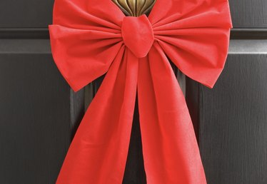 How to Make a Big Door Bow