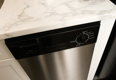 How to Change a Dishwasher Color From White to a Stainless Steel Finish