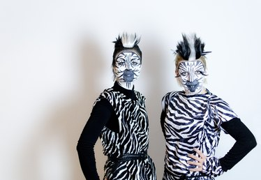 Homemade Zebra Costumes