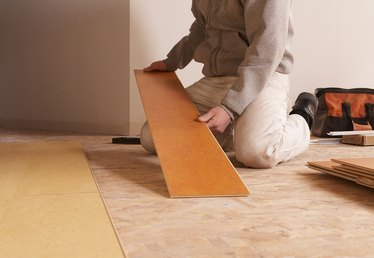 How to Fix Seam Separations in Glueless, Snap-Together Laminate Wood Flooring