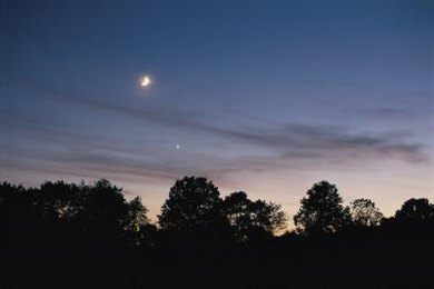 You can often see Venus close to the moon near dusk.
