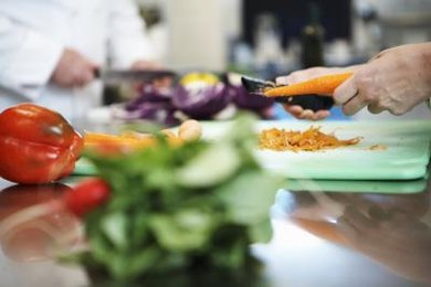 Accredited programs teach chefs healthy food preparation methods.