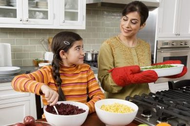 "Parents can teach math concepts like ""greater than, less than"" in the kitchen."