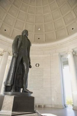 A first-grade introduction to Thomas Jefferson might include a trip to the Jefferson Memorial.