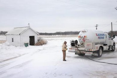 Propane is commonly used as a heating fuel in rural areas.