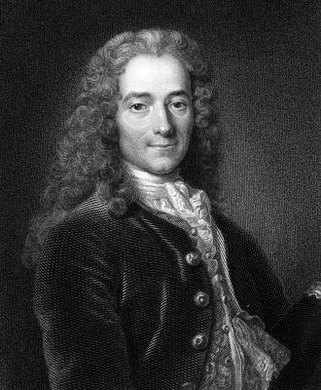 Voltaire was one of the major writers in the Age of Enlightenment.