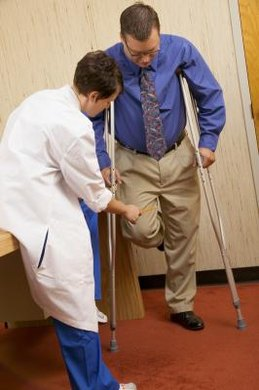 Physical therapists help injured people learn to move more effectively.