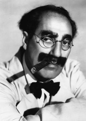 Groucho Marx used the triple negative to comic effect.