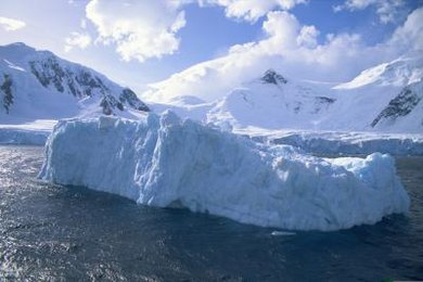 The majority of an iceberg sits under the water's surface.
