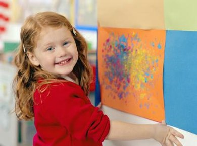 Artwork and fun lessons help children learn about adjectives.