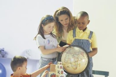 Use a globe to show your young student where in the world she lives.