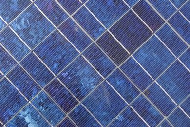 "Polycrystalline solar cells have a ""patchy"" appearance."