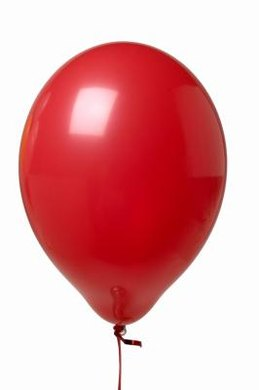 A balloon full of helium will rise higher than one full of oxygen.