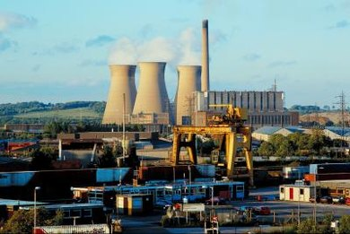 Nuclear power plants use subcritical masses of radioactive materials.