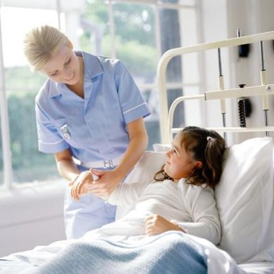 Besides medical offices and hospitals, nurses find employment in schools and some industries.