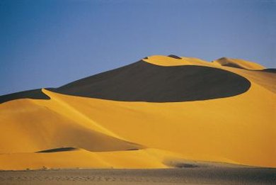The Namib Desert in southern Africa is famous for its striking dunes.