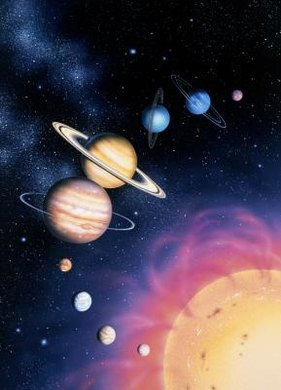 The planets orbit the sun according to Newton's Laws of Motion.