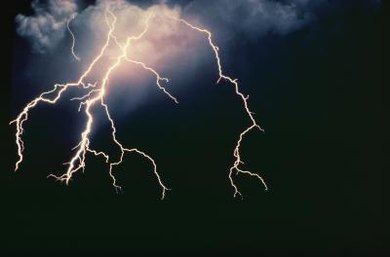 Lightning occurs because of enormous electrical charges built up in clouds.