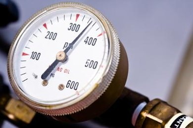 A pressure gauge is used to measure pressures, particularly those higher than atmospheric pressure.