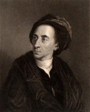 A problem during his birth damaged Alexander Pope's spine and left him permanently stunted and bent over.