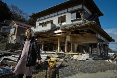 Tsunami waves can be powerful enough to tear the foundations from houses.