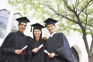 A high school diploma can help you get into college.