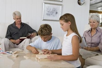Help your child to piece together a design using three-dimensional blocks.